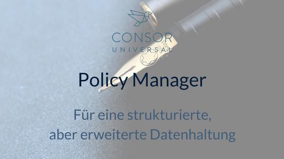 Policy Manager von Universal
